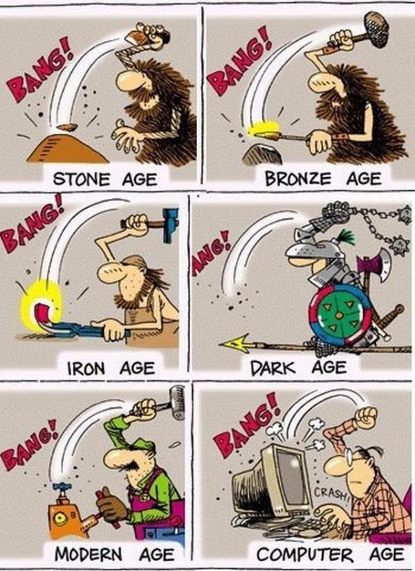 Evoluzione dell'uomo dall'età della pietra ad oggi...