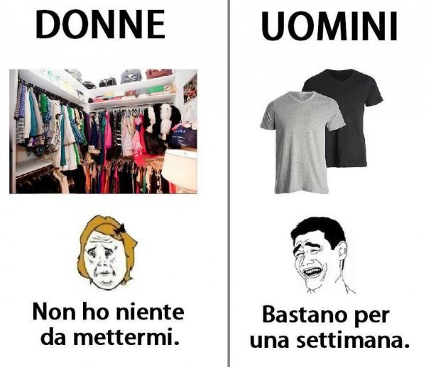 Uomini, donne e abbigliamento...