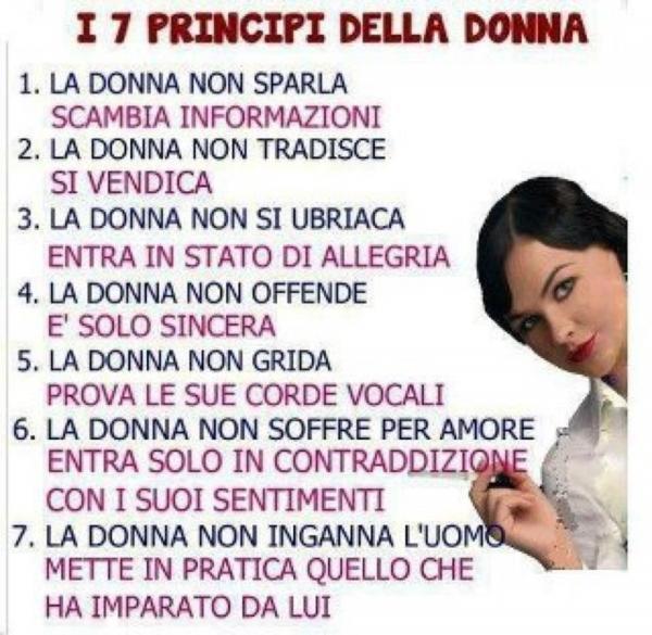 I 7 principi delle donne...