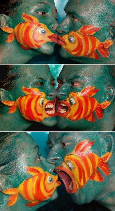 Anche i pesci litigano...