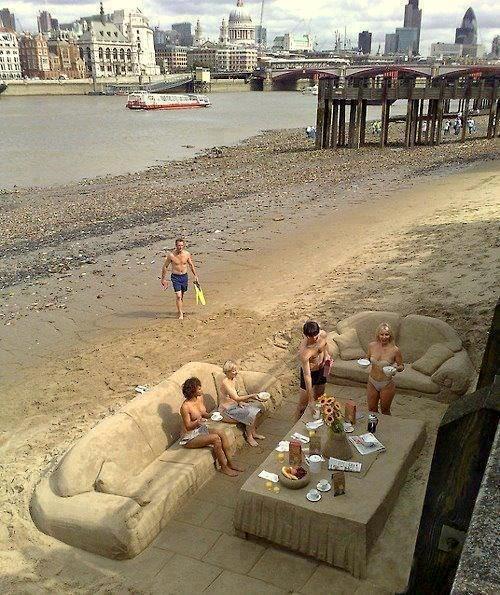 Salotto in spiaggia...