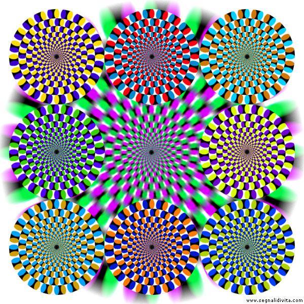 Illusione ottica - Cerchi rotanti