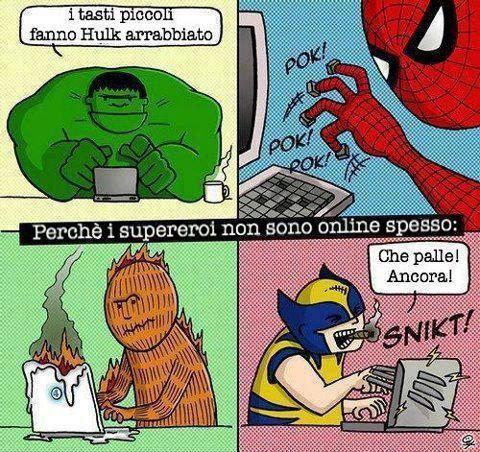 Problemi informatici dei supereroi...