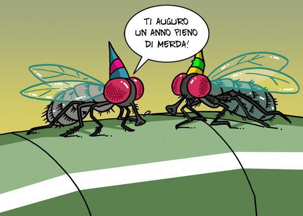 Auguri tra mosche...