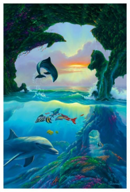 Quanti delfini vedi in questa immagine?