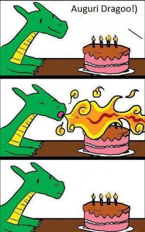 Il compleanno del drago...
