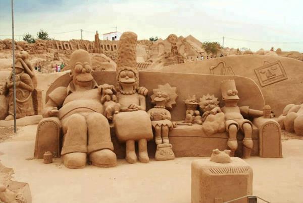 Simpson in spiaggia...