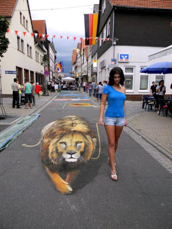 Street-Art - Leoni domestici