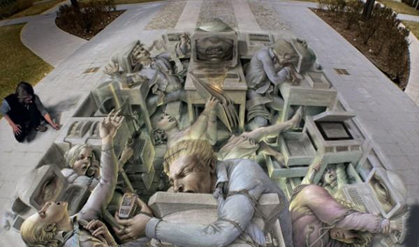 Street-Art - Uffici sotterranei...