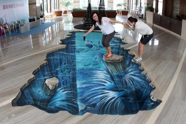 Street-Art - Attenti agli squali...
