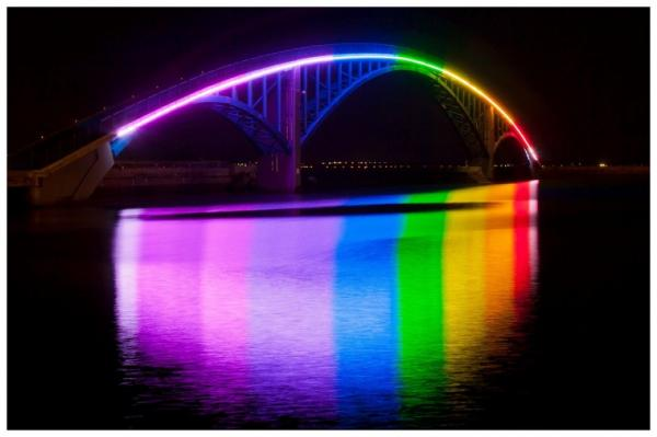 Xiying rainbow bridge -Taiwan