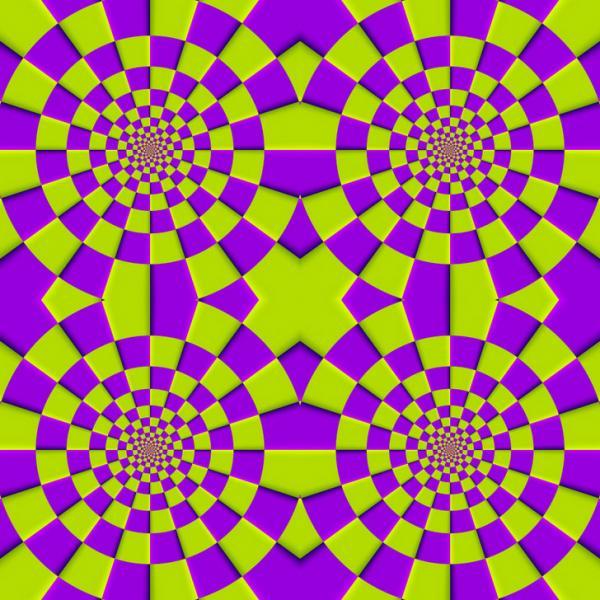 Illusione Ottica - Cerchi rotanti...