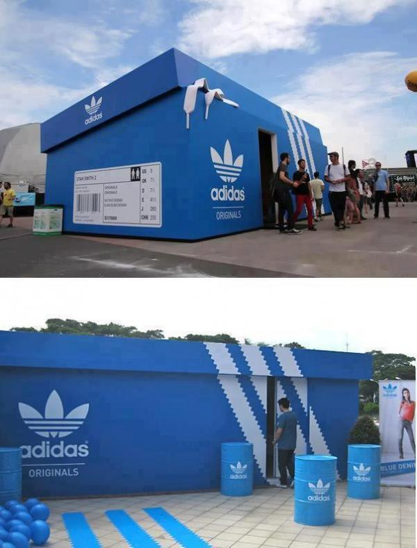 Adidas shopping center...