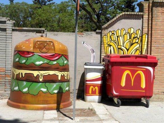 Street-Art - Cibi spazzatura...