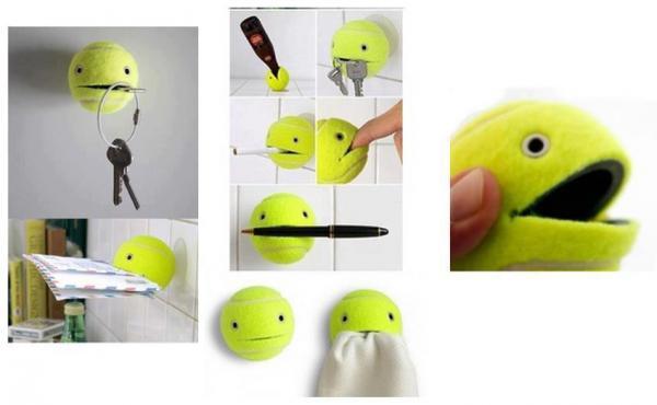 Usi alternativi delle palline da tennis...