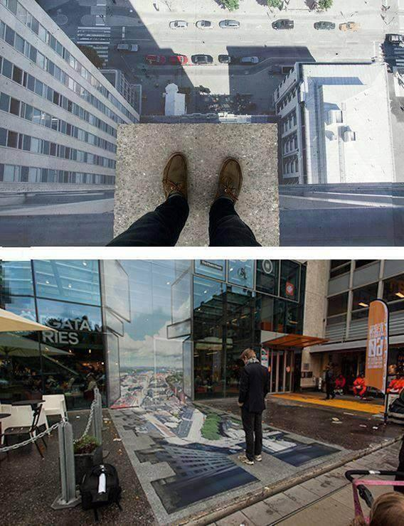 Strret-Art - Tuffo dal grattacielo...