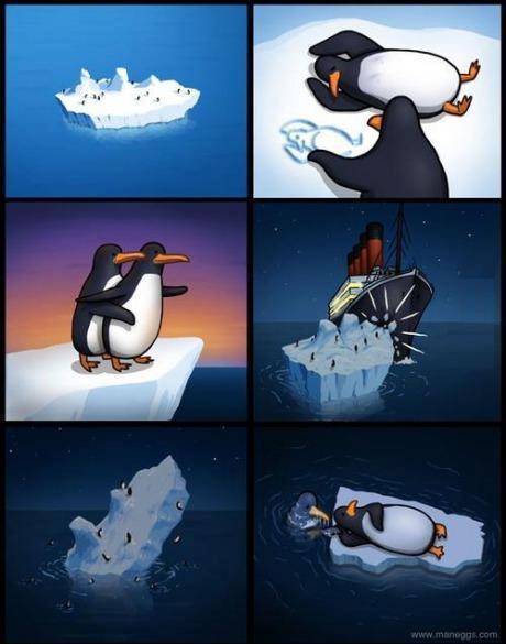 Titanic pinguino...