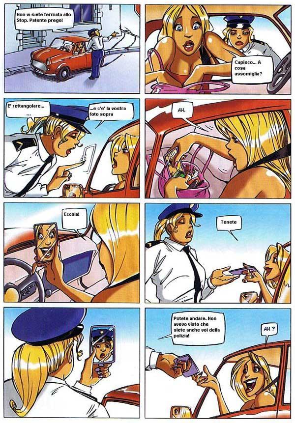 La bionda e la poliziotta...
