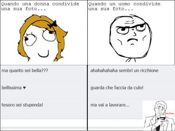 Differenze tra uomini e donne su Facebook...