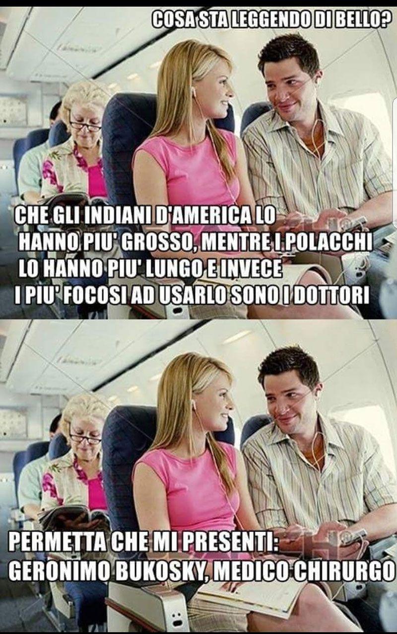 In aereo...
